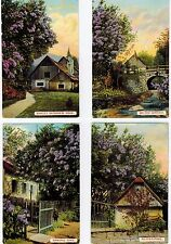 JOB LOT WILDT AND KRAY POSTCARDS POSTED 1911 FOUR CARDS HOUSE AND GARDEN SEASONS