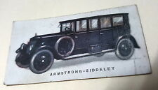 1924 ARMSTRONG SIDDELEY - Imperial Tobacco Co. CANADA Cigarette Card RARE