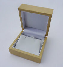 1 x small light real wood luxury wooden earring jewellery gift box case 2.25""