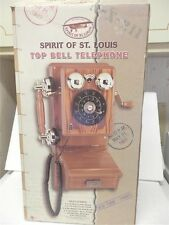 SPIRT OF ST LOUIS TOP BELL OAK FINISH WALL TELEPHONE NEW IN BOX VERY COOL