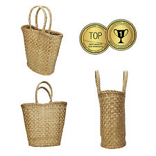 Straw handbag Shopping Bag Basket Picnic Wicker Hamper Vintage  - 100% ECO