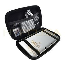 KOZMICC Silver Hard Carrying Case Cover for Nintendo 3DS XL Black Game Console