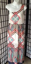 Maxi Dress Size Small Multi-Color One Shoulder Lined Full Length Dress NWT