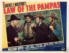 HOPALONG CASSIDY And SIDNEY BLACKMER In LAW OF THE PAMPAS 11x14 LC print 1939