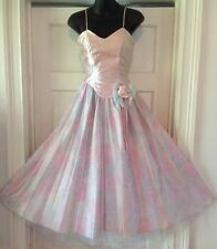 NWT Vintage 80s 50s Party Prom Dress Ballet Pink Roses XS S NEW Alfred Angelo