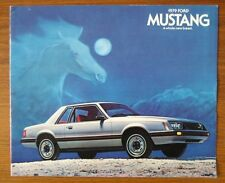 FORD MUSTANG 1979 original USA Mkt sales brochure prospekt catalogue