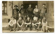 USA - El Reno OK Oklahoma 1908 Interesting Group of Men - RPPC Photo Postcard