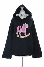 TS-20 Pony black Hooded Sweater Jumper Pastel Goth Lolita Harajuku Japanese