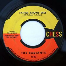HEAR Radiants 45 Father Knows Best/One Day CHESS promo 1832 northern soul R&B