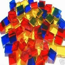 100 PARTY COLORS MOSAIC TILE STAINED GLASS TILE ART CRAFT SUPPLIES MADE IN  USA
