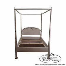 Hand Painted Quality Full Size Poster Canopy Bed Andrea Davinci Braun