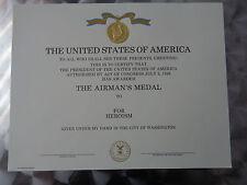 (LOS01) Original US Urkunde Diplome Certificate Airman´s Medal