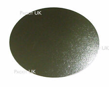 """100 x 6"""" Inch Round Silver Cake Board 3mm DOUBLE THICK"""