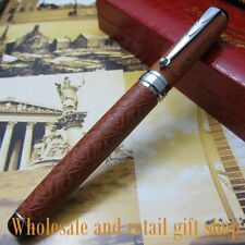Crocodile 168 crocodile Orange skin pattern Fountain pen