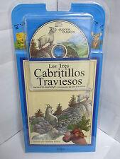 LOS TRES CABRITILLOS TRAVIESOS LIBRO Y AUDIO CD CUENTOS NINOS ESPANOL ILUSTRADO