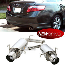 Fit 07-10 Camry V6 Stainless Steel Bolt On Axle Back Dual Exhaust Muffler