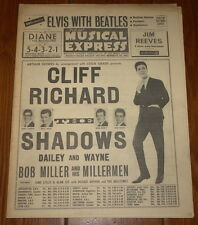 NME FEBRUARY 28 1964 ~VINTAGE MUSIC PAPER MAGAZINE ~ CLIFF & SHADOWS ~ BEATLES