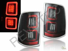 2013-2016 Ram 1500 2500 3500 Laramie Limited Pickup Black Full LED Tail Lights