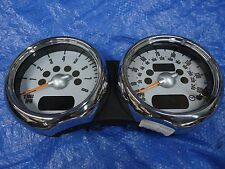 2002-2008 R50 R52 R53 MINI COOPER DOUBLE CHROME SPEEDOMETER REV COUNTER OEM