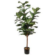 6' Fiddle Leaf Fig Silk Tree w/Pot -Green