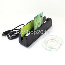 ZCS160 4-in-1 USB Magnetic Stripe Card Reader EMV/IC Chip/RFID/PSAM Reader US