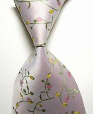 New Classic Light Pink Floral Tie WOVEN JACQUARD Silk Men's Suits Ties Necktie