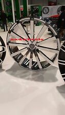 26 Inch Velocity V12 Wheels Rims & Tires fit 6 X 139 Silverado, Avalanche, Tahoe