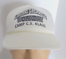 NOS Camp C.S. Klaus Hat White Snapback Trucker Baseball Ball Cap Lid Boy Scouts