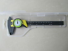 "DIAL CALIPER 6"" INCH 150mm CARBON FIBER CONSTRUCTION VERNIER MICROMETER 0.01res"