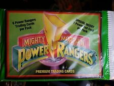 1994 Collect-a-Card Power Rangers Mighty Morphin Premium Trading Cards Wax Pack