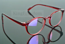 Vintage Red Transparent Eyeglass Frame Full Rim Spectacles Glasses Rx able 2164