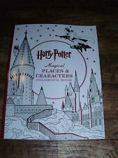 HARRY POTTER MAGICAL PLACES AND CHARACTERS COLORING BOOK WITH FILM STILLS & MORE