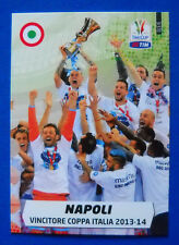 CARD CALCIATORI PANINI ADRENALYN 2014/15 - N. 3 - NAPOLI COPPA ITALIA 2013-14