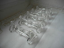 set of 5 stunning vintage French glass table knife rests