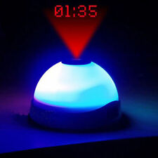 LED Color-Change Star Night Light Magic Projection Projector Alarm Table Clock
