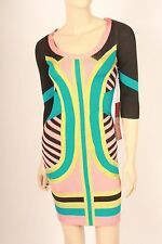 Wow Couture bandage body con tube pencil dress etro gal unif asos oaf free lf S