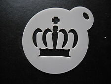 Laser cut small crown design cake, cookie,craft & face painting stencil