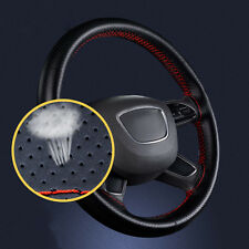 Car DIY Steering Wheel Cover Genuine Leather Cowhide + Needles and Thread 38cm