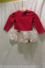 Rare Editions Girls Toddler Christmas Dress Size 4T Red/White