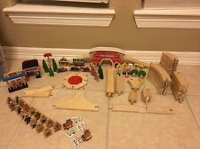 Huge Lot Thomas Wooden Tracks & Accessories  *Over 100 Pcs*. FREE SHIP