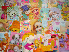 29 Unused Easter Greeting Cards Lot Die Cut Animals Chicks Dogs Rabbits