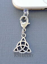 Celtic Knot  cell phone Charm Anti Dust proof Plug ear jack Fits iphone C225