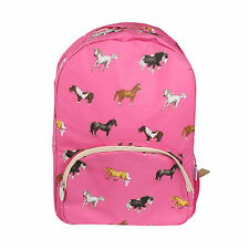 Milly Green Horse Design Pink Backpack School Travelling Holiday Flight Bag