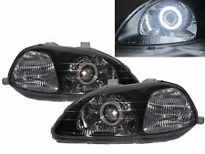 CIVIC 1996-1998 CCFL HID Dual Projector Headlight Headlamp V1 BLACK for HONDA RH