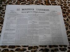 LE MONITEUR UNIVERSEL, journal officiel de l'empire français, n° 324, 20/11/1858