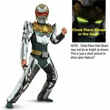 Power Rangers Megaforce Sz 7-8 M Robo Knight Muscle Costume New Childs Halloween