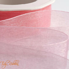 Quality Cut Lengths Woven Edge Organza Sheer Ribbon 7mm 15mm 25mm 38mm Crafts