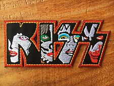 KISS ROCK MUSIC BAND EMBROIDERED IRON ON PATCH BADGE.
