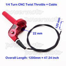 1/4 Turn CNC Aluminum Twist Throttle Cable For Honda CR 80 85 125 250 Dirt Bike