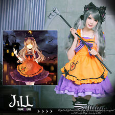 lolita fairy halloween Lilith vampire bunny Cafe' maid dress w/ apron【JBH1889】